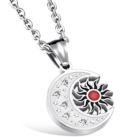 Vinitage Sun & Moon Design Men's Necklace