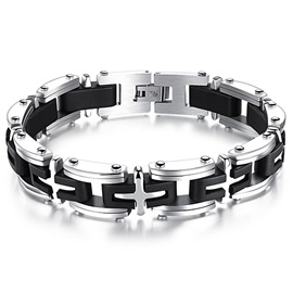 Creative Titanium Steel Cross Bracelet
