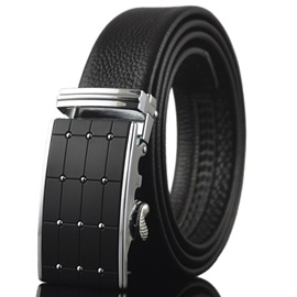 Men's Adjustable Automatic Locking Buckle Belt