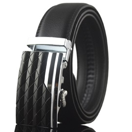 Rhombus Design Automatic Buckle Men's Belt