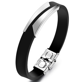 Classic Simple Men's Leather Bracelet