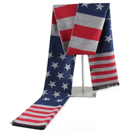 Unique National Flag Design Men's Scarf