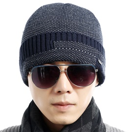 Winter Woolen Yarn Warm Men's Hat