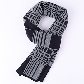 Classic Lattice Warm Men's Scarf