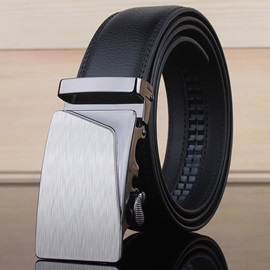 Alloy Buckle Ratchet Slide Holeless Men's Belt