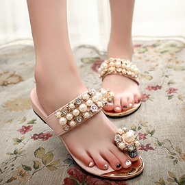 Beading Ring-Toe Slippers