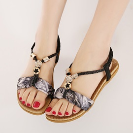 Printed Open-Toe Beach Sandals