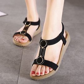 Simple Style Open-Toe Beach Sandals