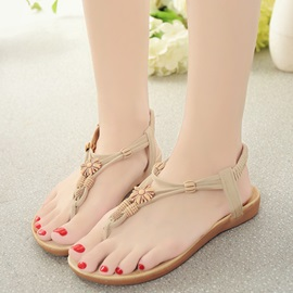 PU Elastic Band Women's Flat Sandals