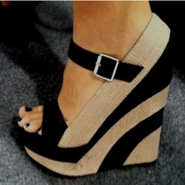 Wedge Heel Open Toe Buckle Women's Wedge Sandals