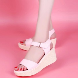 PU Velcro Platform Wedge Heel Women's Sandals