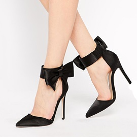 Tidebuy European Style with Bowknot Stiletto Heel Sandals