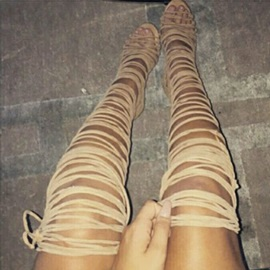 Wrap Up Thigh High Sandal Booties
