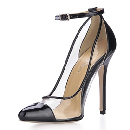 Charming Black and White High Heels Closed-toes Party Shoes