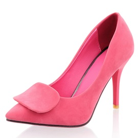 Leave Decorated Solid Color Pointed Toe Pumps