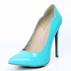 Preppy Blue Pointed Toe Classic Pumps