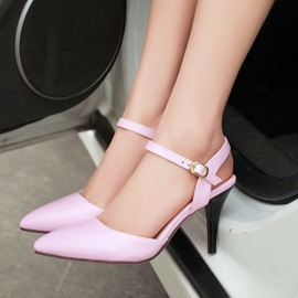 Solid Color Pointed Toe Classic Pumps