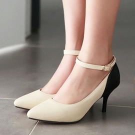 Pointed Toe Ankle Strap Classic Pumps