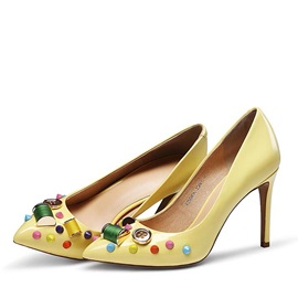 Beaded Round Toe Classic Pumps