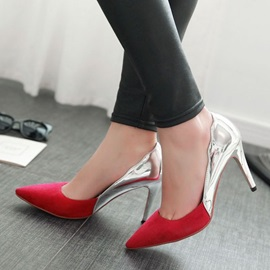 PU Sequins Pointed Toe Classic Pumps