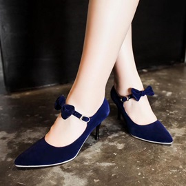 Bowknots Pointed Toe Classic Pumps