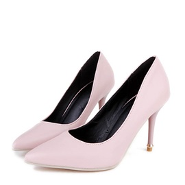 Solid Color PU Stiletto Heel Pumps