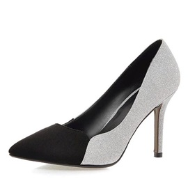 Color Block Stiletto Heel Pumps