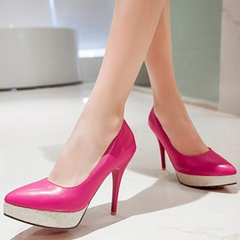Elegant PU Slip-On Platform Stiletto Heel Women's Pumps