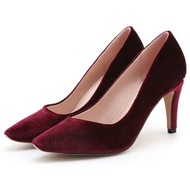 Suede Slip-On Stiletto Heel Simple Women's Classic Pumps