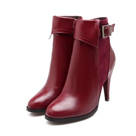 Solid Color Side-Zip Women's Short Booties