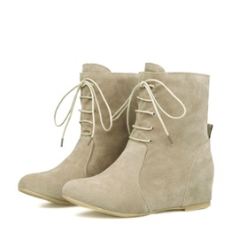 Solid Color Elevator Heel Booties