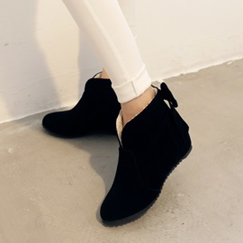 Round Toe Back Bowknots Booties