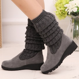 Knitting Patchwork Round Toe Booties