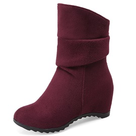 Comfy PU Sip-On Thread Fashion Boots