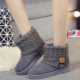 Cheap Slip-On Button Flat Women's Ankle Boots