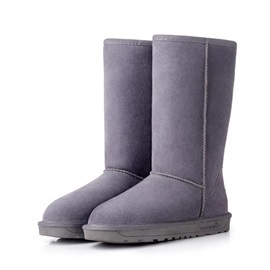 Solid Color Slip-On Winter Boots