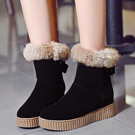 Suede Slip-on Flat Women's Ankle Boots