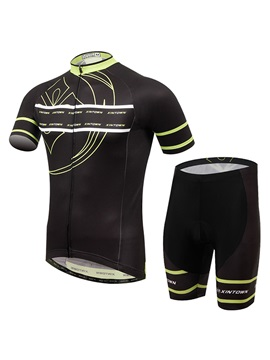 Polyester Summer Short-Sleeve Cycling Outfit