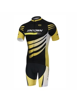 Multi-Color Short-Sleeve Cycle Jersey And Bib Shorts