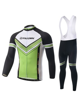Polyester Long-Sleeve Bike Jersey And Bib Tights