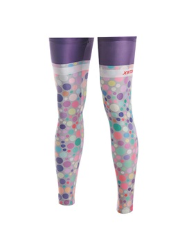 Polka Dots Bike Side Zip Leg Warmers