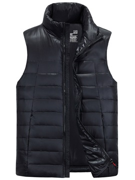 Pure Color Puffer Down Thermal Outdoor Waistcoat