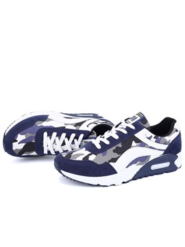 Camouflage Color Lace-Up Sneakers with Cushion