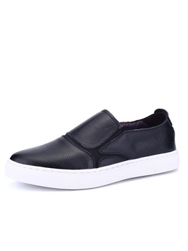 Black PU Round Toe Sneakers