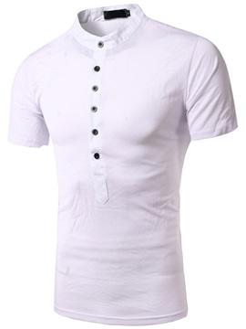 Half Breasted Short Sleeve Men's Polo
