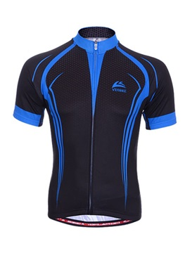 Contrast Color Short Sleeve Men's Jersey