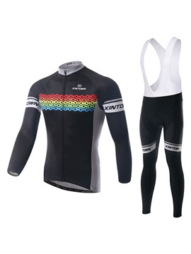 Chain-Printed Long-Sleeve Jersey And Bib Tights