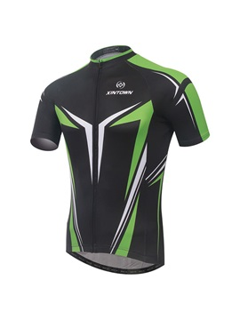 Polyester 2-Tone Quick-Drying Cycling Jersey