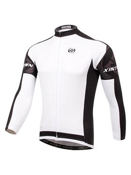 White Unisex Long-Sleeve Bike Jersey