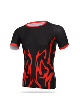 Spandex Short-Sleeve Cycle Jersey
